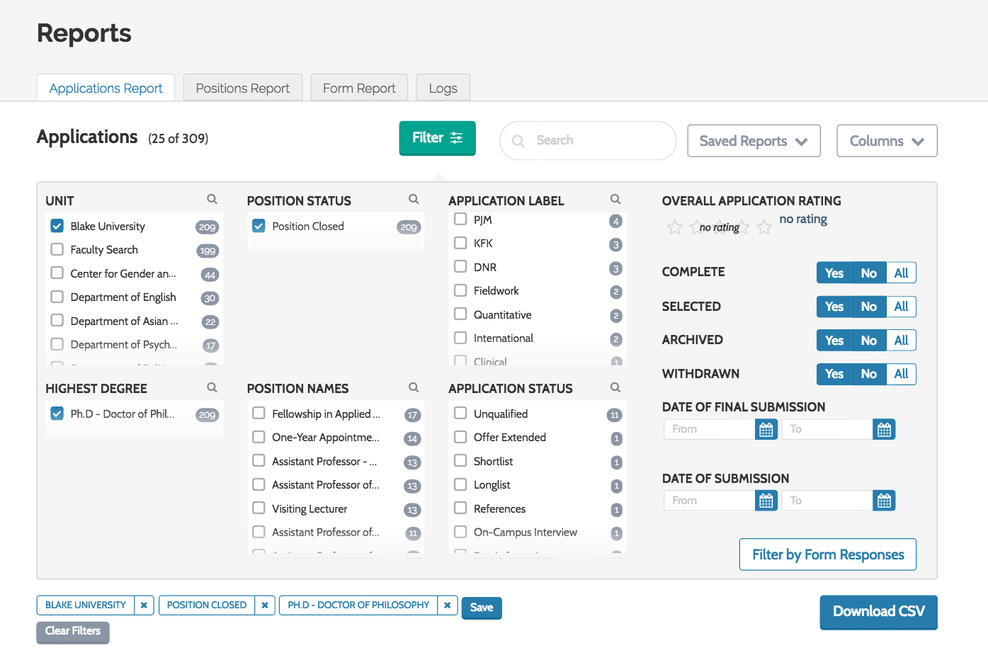 Improvements to reporting in Interfolio's ByCommittee